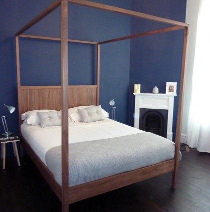 Walnut Four Poster Bed